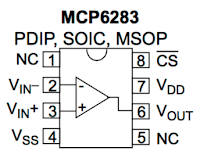MCP6283 Pinouts